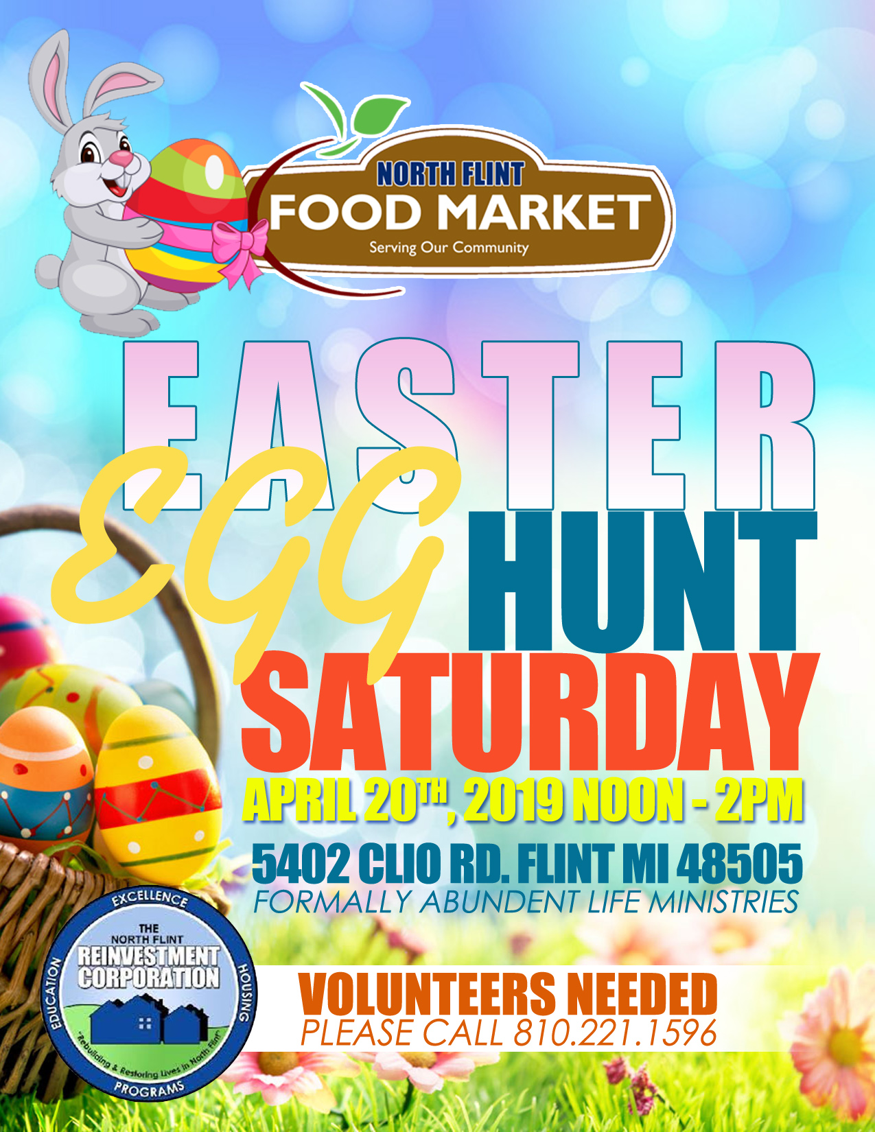 Easter Egg Hunt @ North Flint Reinvestment Corporation