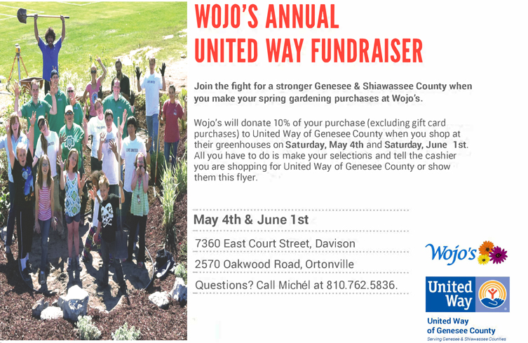Wojo's FUNdraiser for United Way of Genesee County