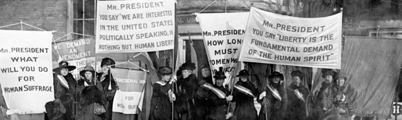 Reenactment of Women's Suffrage March