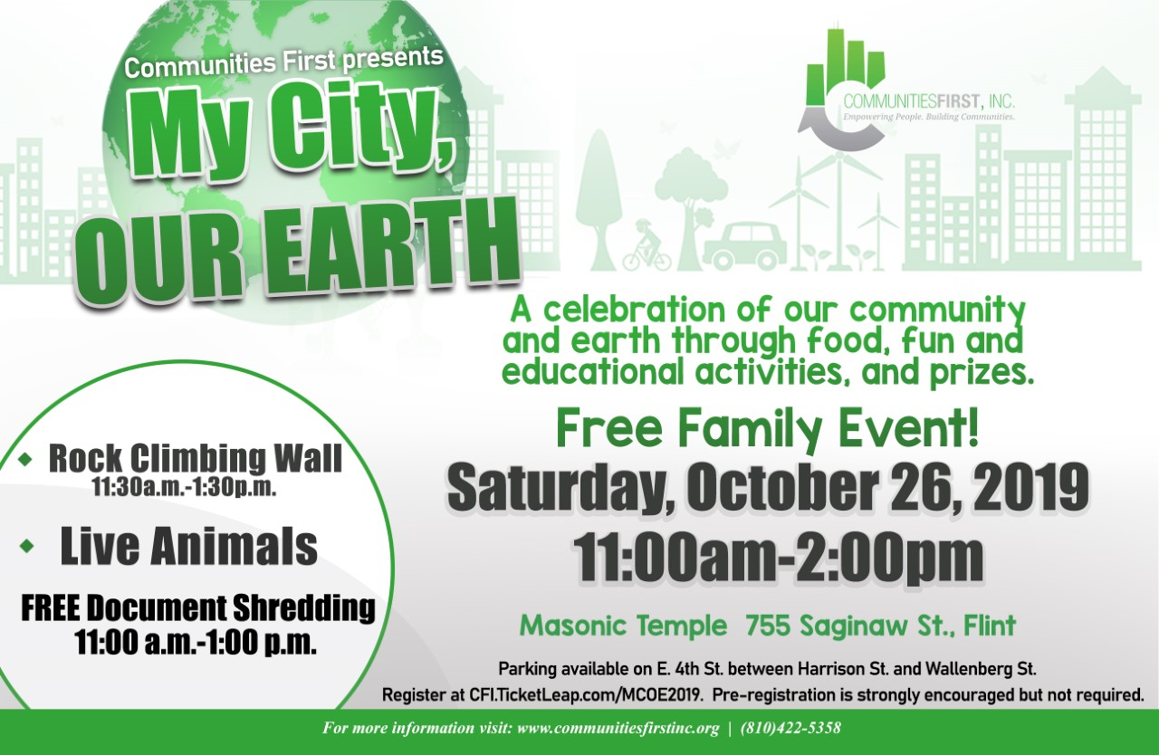 Press Release: My City, Our Earth Presented by Communities First, Inc.