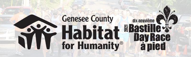 Press Release - 2021 Virtual Bastille Day Race to benefit Genesee Habitat