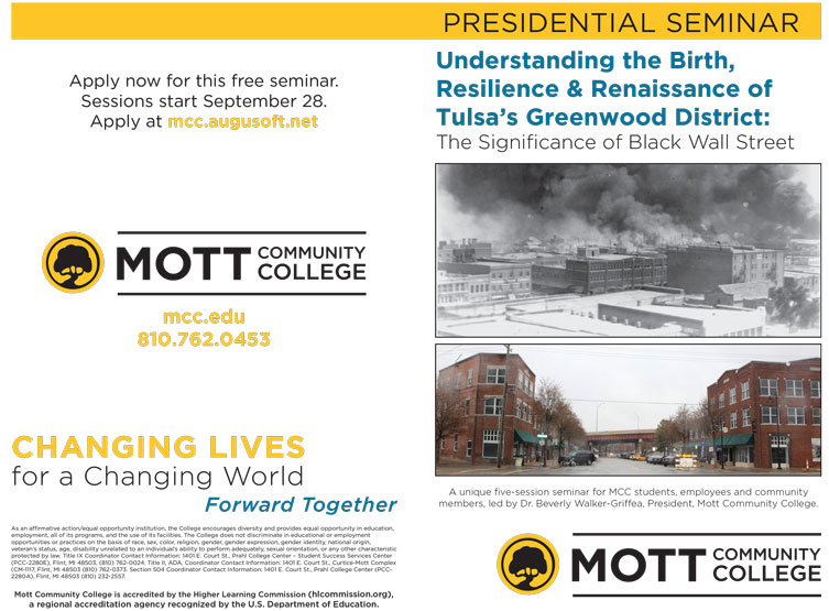 Presidential Seminar - Understanding the Birth, Resilience & Renaissance of Tulsa's Greenwood District: The Significance of Black Wall Street